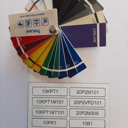 Цвет текста маркировки зависит от фона самой таблички